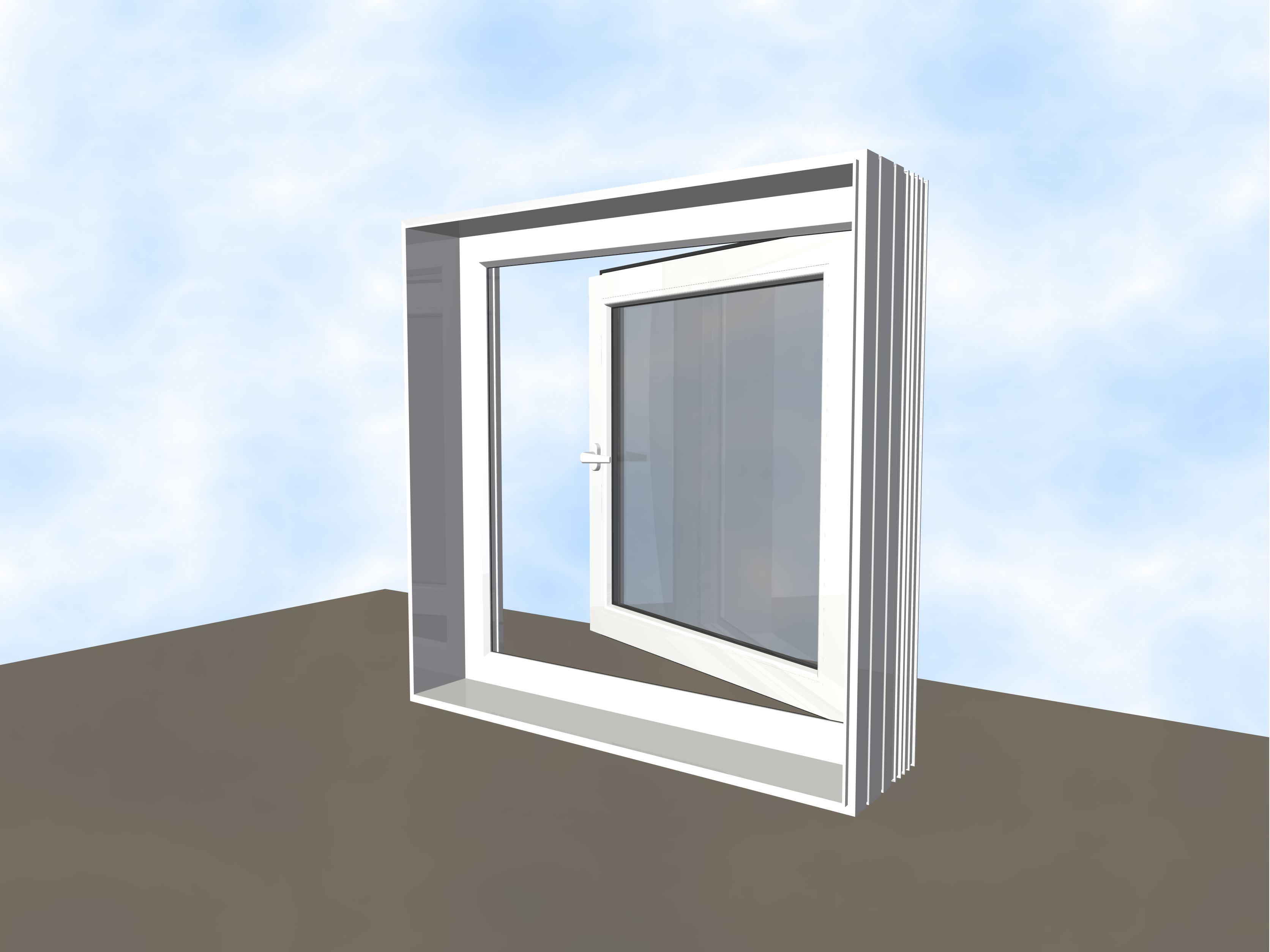 Drehfenster nach außen öffnend (Exit)