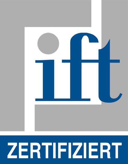 Unsere Fenster und Türen sind vom anerkannten IFT Rosenheim zertifiziert.