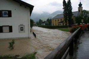 Hochwasser in Unterwössen